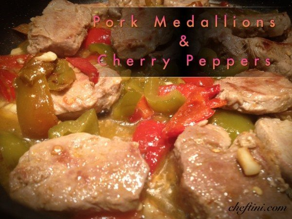 Pork Medallions with Cherry Peppers