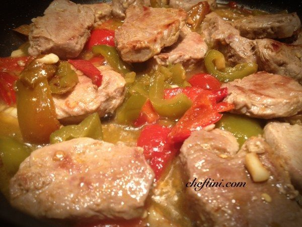 Pork Medallions and Peppers