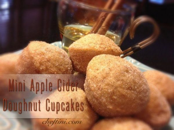 Mini Apple Cider Doughnut Cupcakes