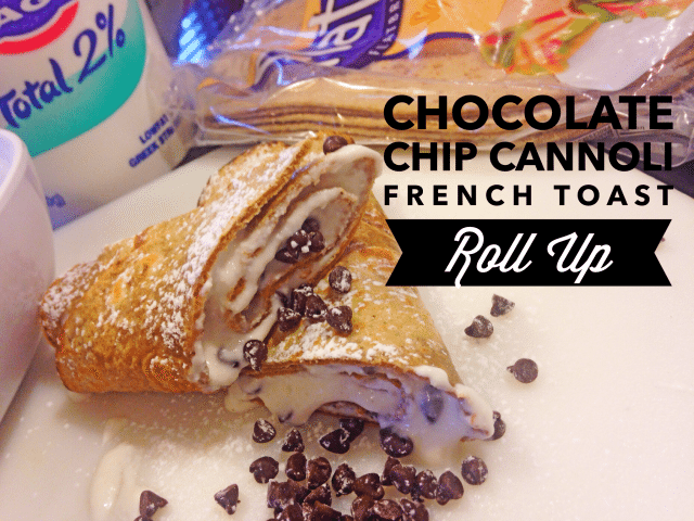 Flatout Cannoli French Toast Roll Ups
