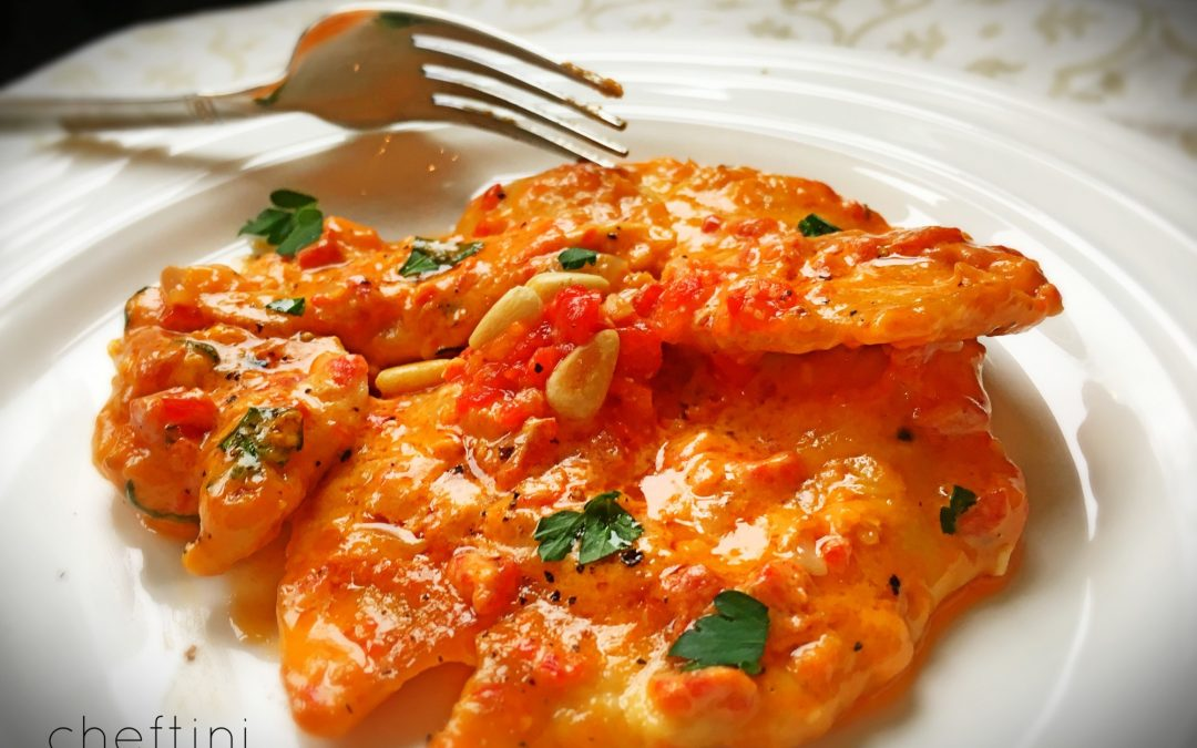 Chicken with Roasted Red Pepper Mascarpone Sauce