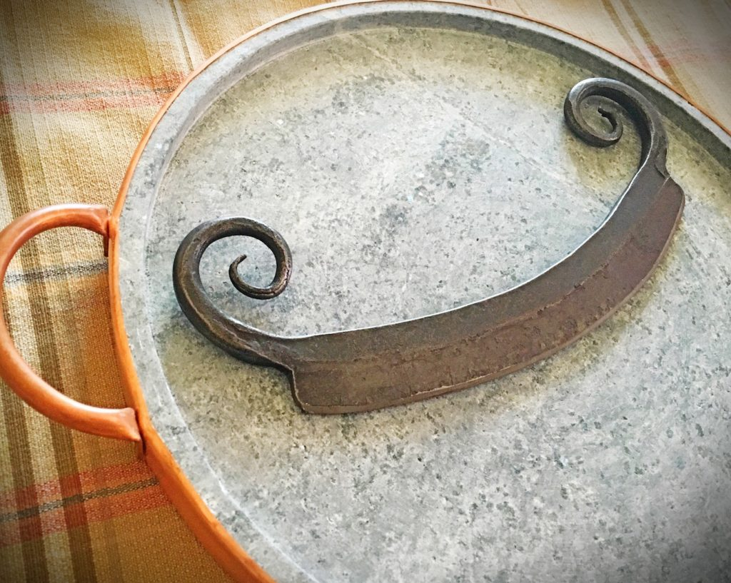 UncommonGoods Soapstone Pizza Pan and Steel Pizza Cutter