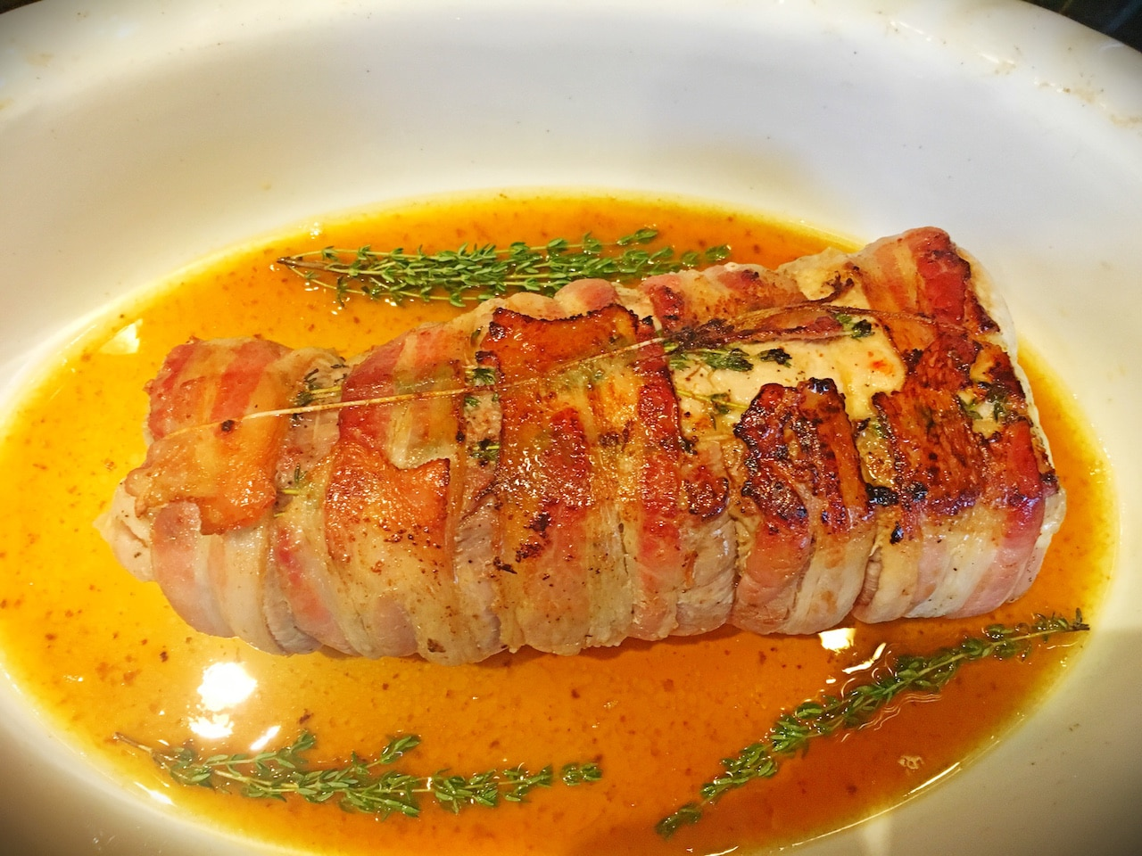 how to cook bacon wrapped pork