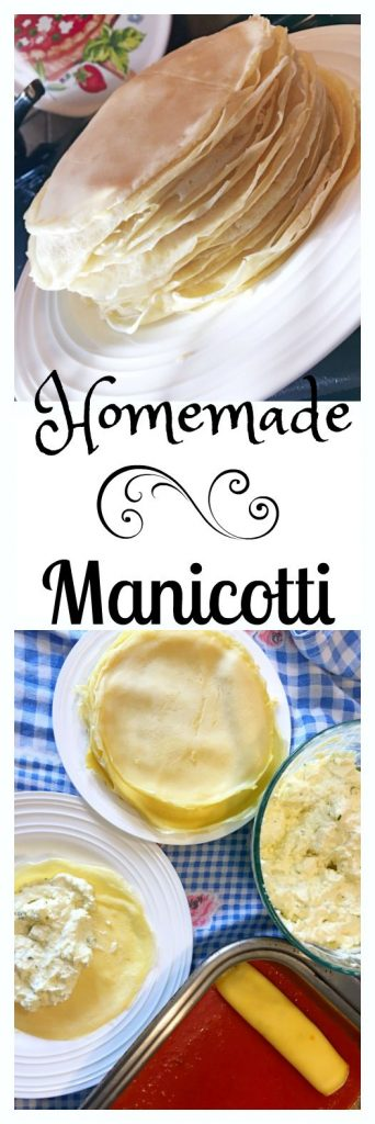 Authentic Italian Manicotti