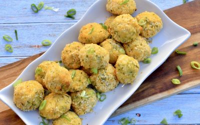 Broccoli Cheddar Mashed Potato Puffs